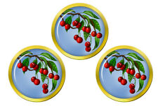 Red Cherries Set of 3 Golf Ball Markers