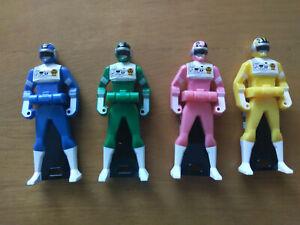 Choudenshi Bioman 4-Key Sentai Ranger Key Set (US Seller)