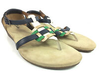 Clarks Qwin Adoria Leather Suede Comfort Thong Sandals Womens Size 10M 26069314