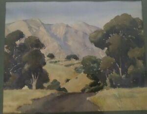 California Plein Air Painting, Paul Julian, 1934, Hollywood Artist/Designer