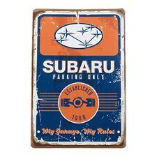 Genuine Subaru Vintage Garage Sign Impreza Legacy Wrx Sti Outback Forester Rally