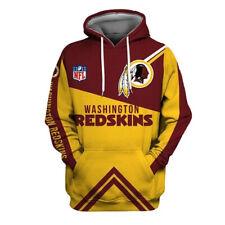 Washington Redskins 3D Print Hoodie Mens Sweatshirt Pullover Cosplay Jacket Coat
