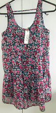 Ladies Free Fusion Size 4 Floral Tiered Dress Cammi Underlay With Swing Tag