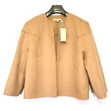 Michael Kors Collection Womens Cashmere Angora Wool Jacket Tan 8 (Msrp $2,195)