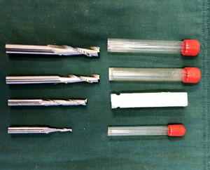 Solid Carbide Spiral Upcut Router Bits - Set of 4 - Onsrud & Lee Valley Veritas