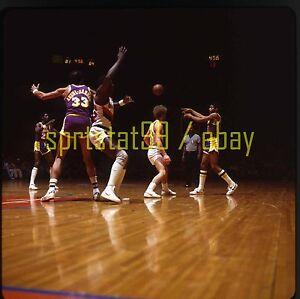 Kareem Abdul-Jabbar #33 - Los Angeles Lakers - c1979 - Vtg NBA Basketball Slide