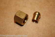 "Qty 10 x Solder Olive/Nipple and Gland Nut for Copper Pipe 1/4""BSP x 1/4"" Tube"