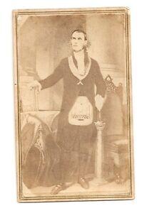Antiquarian Civil War Era Masonic C.D.V Photo ~ Featuring The Worshipful Master