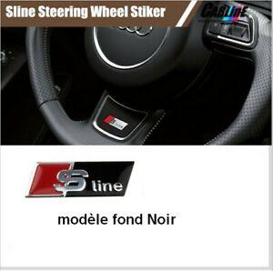 1x Logo S-line de volant Noir Badge A3 A4 A5 Q3 Q2 Q5 Q7 coupé TDI TFSI TT