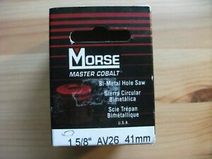 """Morse Master Cobalt Bi-Metal Hole Saw 1 5/8"""" AV26 41mm"""