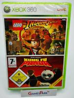 LEGO INDIANA JONES KUNG FU PANDA XBOX 360 GIOCO NUOVO PER Italiano X BAMBINI DA