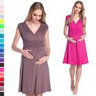 Happy Mama Women's Maternity Pregnancy Skater Nursing Flattering Dress 256p