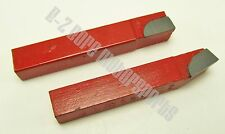 """3/8"""" Square C2 Grade Brazed Carbide Tipped Tool Bit Set - AL6 and BL6 Style"""