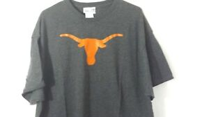 Texas Long Horns Section 101 Majestic T-Shirt Gray Size 2XL Mens