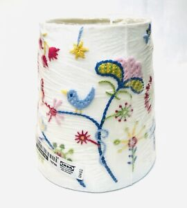 IKEA Alfhild Fagel**RETIRED**Lamp Shade**Multi-Color**Bird**Flowers