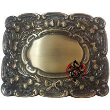 Traditional Scottish Kilt Belt Buckle Thistle Crest Antique/Piper Belt Buckles