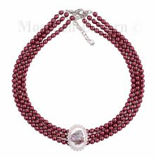 Trachtenschmuck Dirndlschmuck Kropfband Kropfkette Trachtenkette Perlen Rot