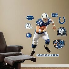 DALLAS CLARK #44 TE COLTS FATHEAD REAL BIG Lifesize wall graphics + all extras