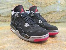 2008 Nike Air Jordan 4 VI Retro CDP SZ 9 Black Cement Fire Red OG 308497-003