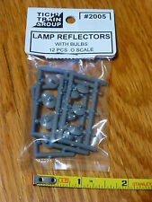 Tichy Train Group #2005 (O Scale) Lamp Reflectors & Bulbs pkg(12; Nonworking)