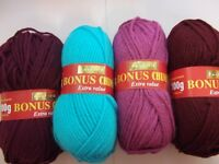 5 x 100g Balls of Hayfield Bonus Chunky Wool/Yarn for Knitting/Crochet