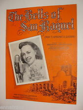 The Bells of San Raquel 1941 sheet music Por Ti Aprendi a Querer English/Spanish