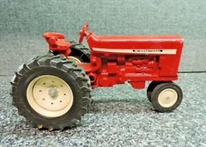 """International Harvester Toy Farm Tractor Red Metal 8"""" Long White Rims 18-4-34"""