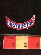Vintage INSTRUCTOR Patch ~ Teacher Trainer 60C9