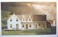 "A.J. CASSON group of seven Farm House art print RARE 22.75""x 38"" 1960 LARGE"