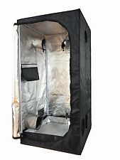 80X80X160 Grow Tent Bud Dark Green Hydroponics Room  Box Mylar Silver