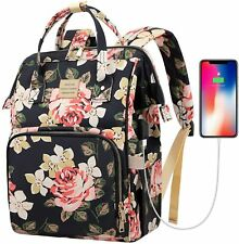 Laptop Backpack,15.6 Inch Stylish College School Backpack w/USB Charging Port, W