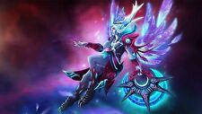Online Game DotA 2 Vengeful Spirit Silk Poster Wallpaper 24 X 13 inch