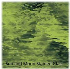 """8 X10"""" Spectrum Glass Sheet S528-4W - Olive Green Waterglass Stained Glass Sheet"""