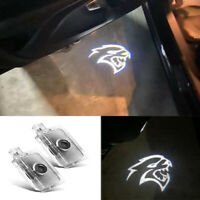 New 2x LED Logo Door Courtesy Projector Puddle Lights For Dodge Charger Hellcat