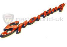 FIAT badge SPORTIVO IN ROSSO CINQUECENTO E SEICENTO 46455128 NUOVO di zecca, ORIGINALE