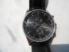 Fossil Cronógrafo Para Hombres Negro leather.quartz, ANALOGICO & w-resist Reloj