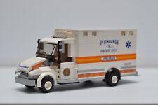 LEGO Ambulance City EMT Medic Truck Orange Pittsburgh Custom Speed Champions