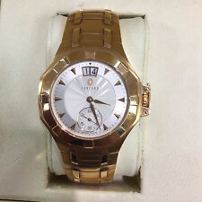 NEW CONCORD SARATOGA AUTOMATIC 18KT SOLID GOLD 0310495 QUICKSET DATE WATCH