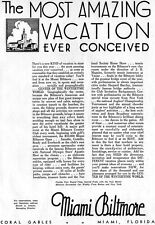 Coral Gables Miami Biltmore Hotel MOST AMAZING VACATION EVER 1933 Print Ad