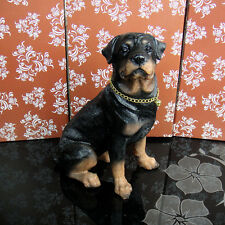 Dogs > Rottweiler puppy dog sat resin figure figurine *s Us un712
