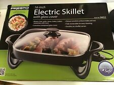 Presto 06852 16-Inch Electric Skillet Nonstick Surface with Glass Cover