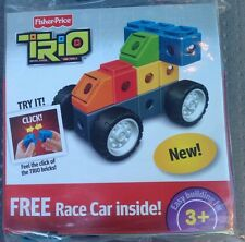 Fisher Price TRIO Race Car Building Block Bricks Toy 6 Piece  2010