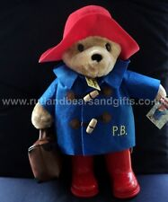 "Official Licensed Large 13"" Paddington Bear Plush Soft Toy with Boots Suitcase"