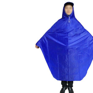 Cycling Bicycle Bike Raincoat Rain Cape Poncho Cloth Gear Rainproof Blue Comfort