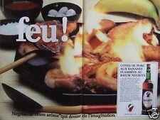 PUBLICITÉ 1980 CÔTE DE PORC AUX BANANES  FLAMBÉES AU RHUM NEGRITA - ADVERTISING