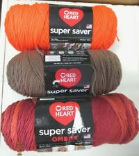 YARN,,RED HEART SUPER SAVER..3 COLORS TO CHOOSE FROM