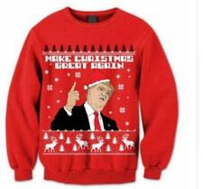 Christmas Womens Mens Xmas Donald Trump Ugly Make Great  Again Sweater Funny
