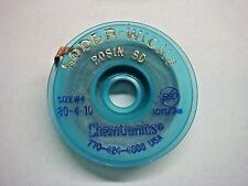 (1) Chemtronics 80-4-10 10ft x .110in Size #4 Desoldering Braid Soder-Wick Rosin