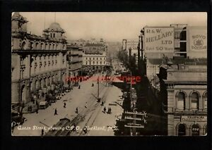 NEW ZEALAND AUCKLAND QUEEN STREET SHOWING C.P.O. Tanner Bros. RP PC E20C - NZ44