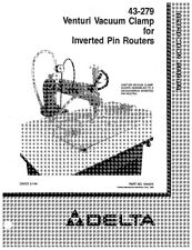Delta 43-279 Venturi Vacuum Clamp for Inverted Pin Routers Instruction Manual